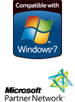 AdQue is compatible with Windows 7. Data Concepts is a part of the Microsoft Partner Network.